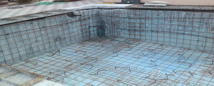 Reparaci n de piscinas en ja n liner hormig n grietas for Piscinas diseno estructural