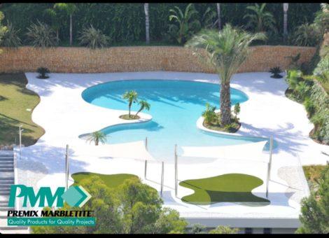 Construcci n piscinas arena de cuarzo tipo playa en granada for Construccion de piscinas en granada